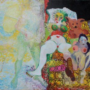 2 women, 1 man, 1 teddybear, 135 x 155 cm, 2010