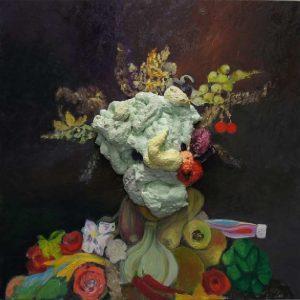 Archimbaldo revisited, 2013, 80 x80 cm, oil, foam on canvas