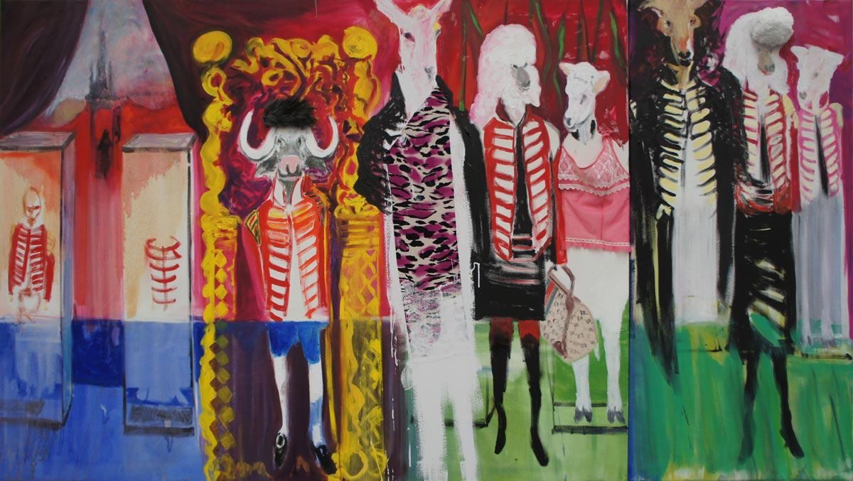 Historiestuk, 2014, paint