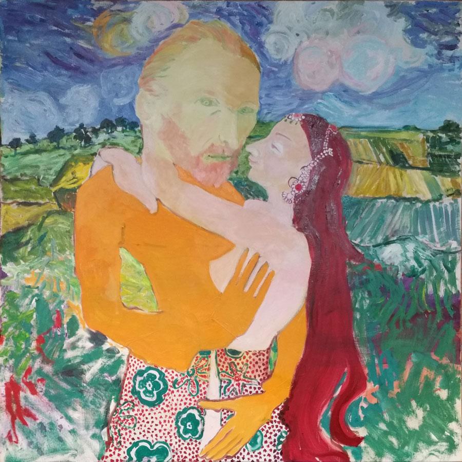Encounters, Van Gogh 's love affair, 2015, 150 x 150 cm