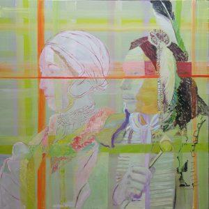 Encounters, King & Queen (Anna Boleijn & Red Cloud Sioux, 2016, 150 x 150 cm