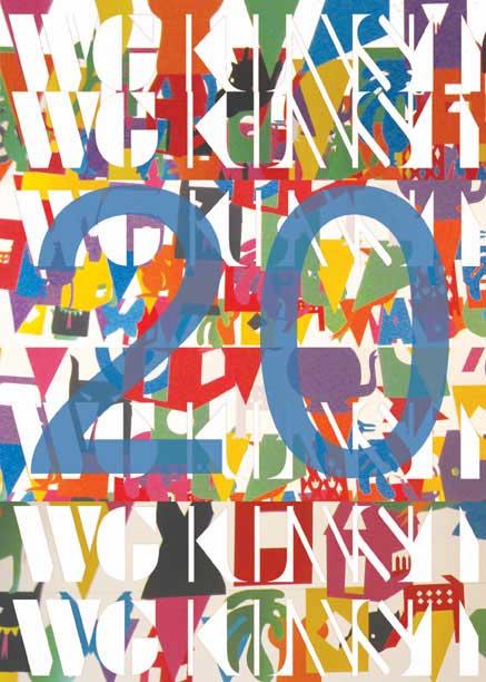 voorkant flyer WG Kunst 20 jaar