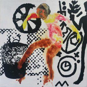 A woman in art, 2017, 150 x 150 cm