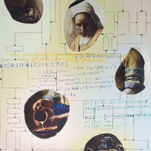 Milkmaid snippet, 2019, 200 x 120 cm