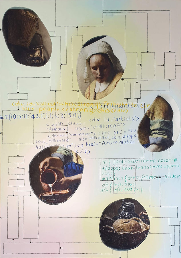 Milkmaid snippet, 2019, 120 x 200 cm