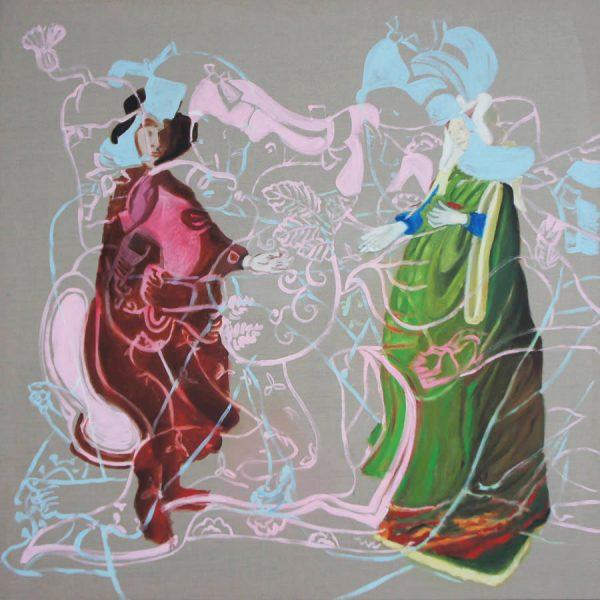 love & marriage, 2015, 150 x 150 cm