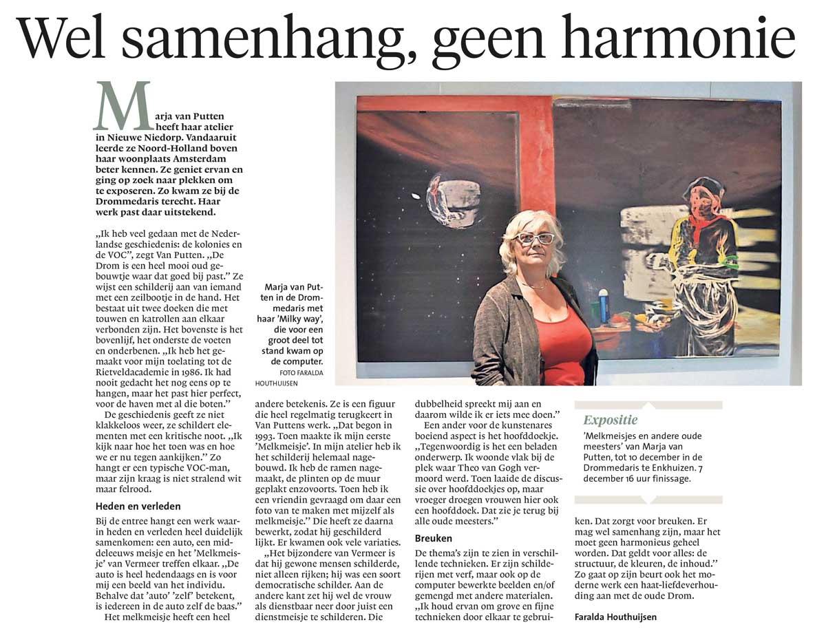 Recensie Noord Hollands Dagblad 15-8-2019
