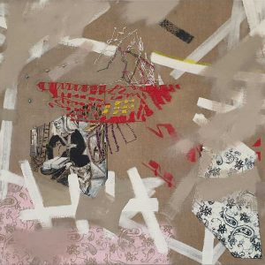 Women Building (Roman des Girart von Roussillon), 2020, 100 x 100 cm