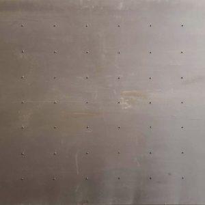 Staalplaat, 1992, 122 x 244 cm, kunstzijde, kralen op doek