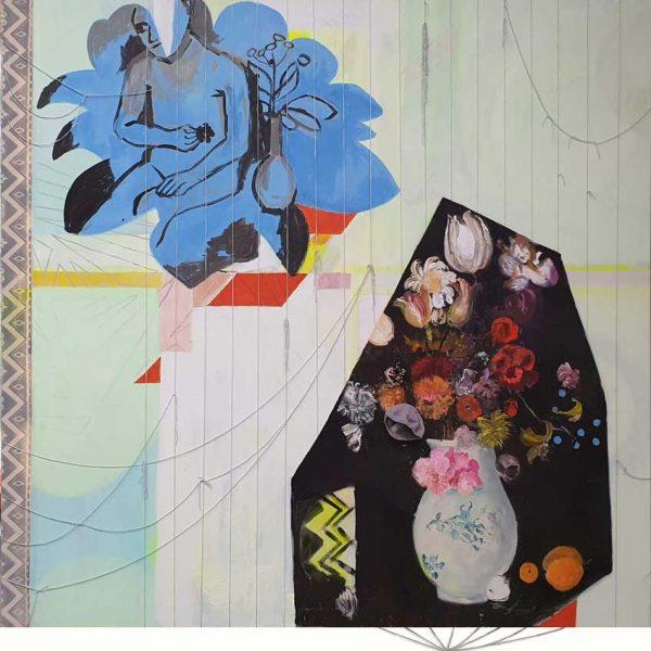 Female Flower snippets (Paula en Judith), 200 x 200 cm
