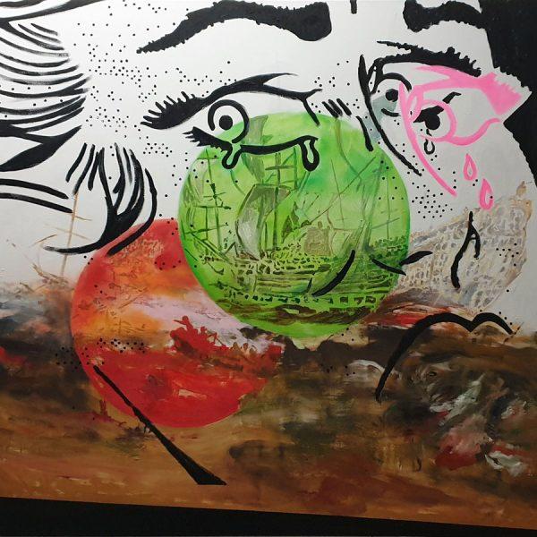 Crying Girl / Schreiend meisje 160 x 170 cm